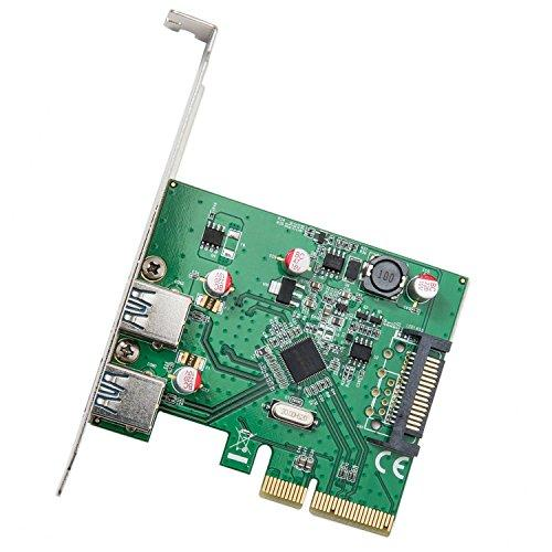 Pci-Express 2.0 X4, 2-Port Usb 3.1 Type-A Controller Card, Asmedia Asm1142A Chipset, With Low Profile Bracket