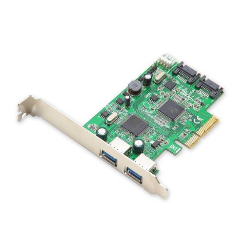 Pcie 2.0 2-Port Usb3.0  2-Port Sata 6G Combo Card Using Etron And Asmedia Chipsets, With Low Profile Bracket