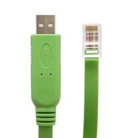 Usb 2.0 To Rj45 For Cisco Console Cable, Ftdi Ft232 Chipset  Rs232 Level Shifter, 1.5-Meter In Length
