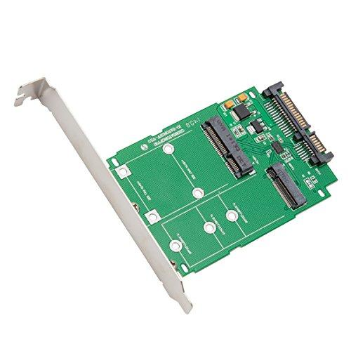 M.2 (Ngff) And Msata Mini Sata Pci-E Ssd To Sata Adapter, Support Sata6G, M.2 Card Size: 22*30, 22*42, 22*60, Msata Ssd Card Size: 26.8*30, 50.95*30, With Regular And Low Profile Brackets