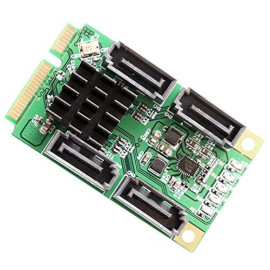 Mini Pci-Express 2.0, 4-Port Sata 6G, Non-Raid, Marvel 88Se9215 Chipset, With 4X Sata Cables