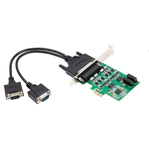 Pcie 2.0 4X Port Serial Rs-422/485 Card, Support Up To X16 Lane, Fan-Out Cable, Exar Xr17V352 Chipset
