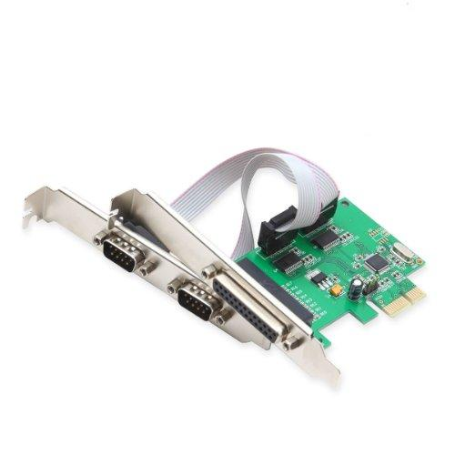 Pcie 2X Serial Db9 Port, 1X Parallel Port Combo Card, Wch382 Chipset, With Low Profile Bracket