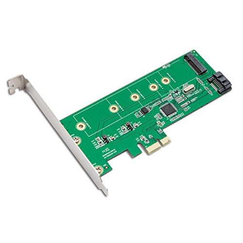 Pci-Express 1-Port Sata6G  M.2 (Ngff) Hybrid Card, Support Raid 0 / 1, Marvell 88Se9130, Support M.2 Card Size: 22*30, 22*42, 22*60, 22*80, 22*110, With Low Profile Bracket