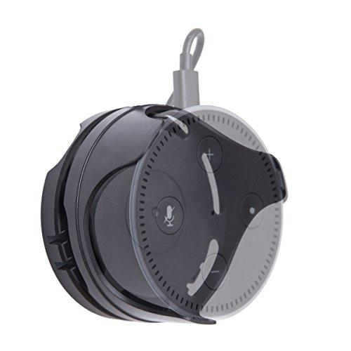 Wall Mount Holder With Cable Winderdesigned To Fit With Electroeshop Echo Dot 2Nd Generationmaterial: Pcavailable Color: Black