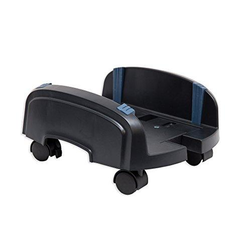 Cpu Stand With Castors For Atx Case, Plastic, Black Color, Adjustable Width From 15.5Cm To 25.5 Cm
