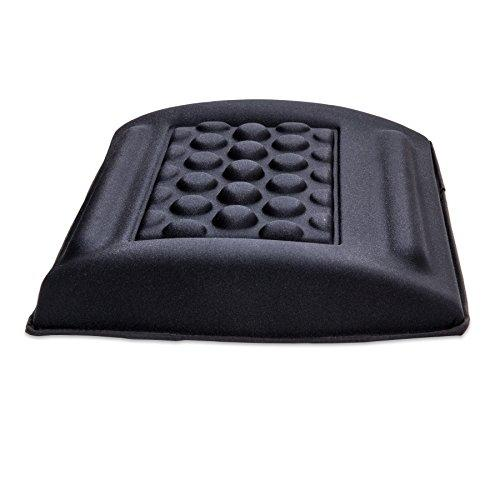 "Back Support With Materials (Gel  Hr Foam  Lycra), Reduce Pressure Points, 13""X12""X2.75"", Black Color"
