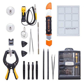 50 Pcs Portable Essential Tool Kit For Repairing Smartphones / Tablet / Computers / Electronics / Game Consoles And More, Ideal Diy Kit For Every Household