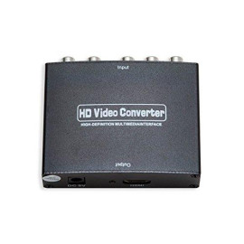 Component Video (Ypbpr  R/L) To Hdmi Converter, With Power Adapter, Black Color