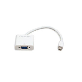 Mini Displayport 1.1 To Vga Cable Adapter, White Color
