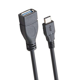 Usb 3.1 Cable, 1-Meter, Type-C Male To Usb 3.0 A Plug Female, Data Sync And Charge, Black Color