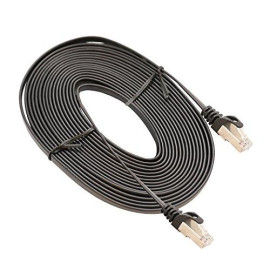 5-Meter (16-Feet) Cat7 Lan Network Cable Rj45 High Speed Patch Cord Stp Gigabit 10/100/1000Mbit/S Gold Plated, Black Color