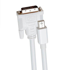 2-Meter Mini Displayport 1.2 To Dvi (24) Cable, Male To Male, White Color