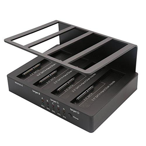 Usb 3.0? Quad Bay Hdd Docking, Support Up To 4X Sata3 2.5 / 3.5 Hdd / Ssd, Up To 8Tb Hdd, 1:3 Cloning Feature, Non-Raid, Black Color, Jmicron Jms567?? Chipset