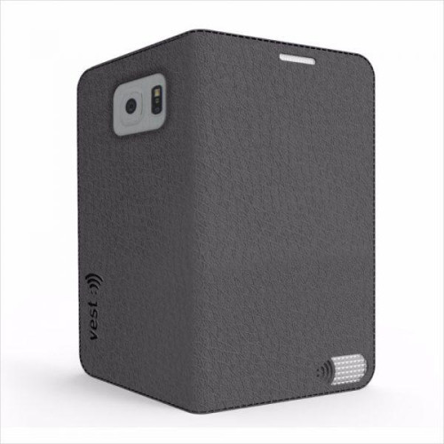 Vest Anti-Radiation Wallet case for Samsung Galaxy S6 - Black