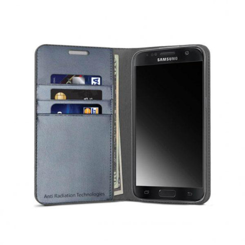 Vest Anti-Radiation Wallet case for Samsung Galaxy S7 - Gray