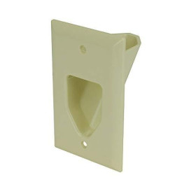 1-Gang Recessed Low Voltage Cable Plate, Neutral