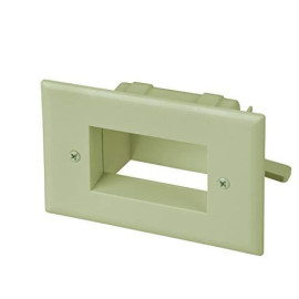 Easy Mount Recessed Low Voltage Cable Plate, Neutral