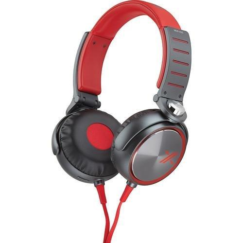 X-Series Over-The-Ear Headphones With Mic And Remote - Red/Black