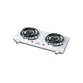 Electric Double Burner- White