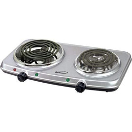 1500W Double Burner Spiral Silver