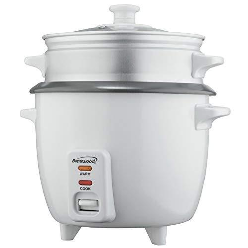 10 Cup Rice Cooker With Steamer White