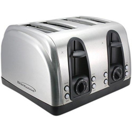 4 Slice Toaster With Slide-Out Crumb Tray And Extra Funtions Stainless Steel Finish