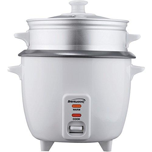 5 Cup Rice Cooker With Steamer, White