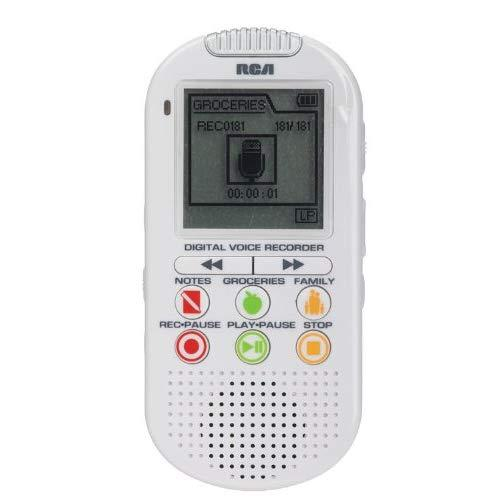 2Gb Digital Voice Recorder - Up To 560-Hour Recording, White