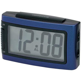Battery Alarm Clock With Snooze - Blue