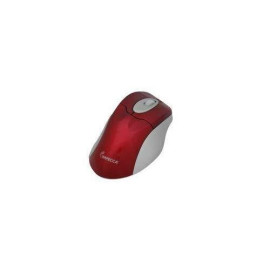Illuminated Usb Optical Wheel Mouse Red With Gray Trim