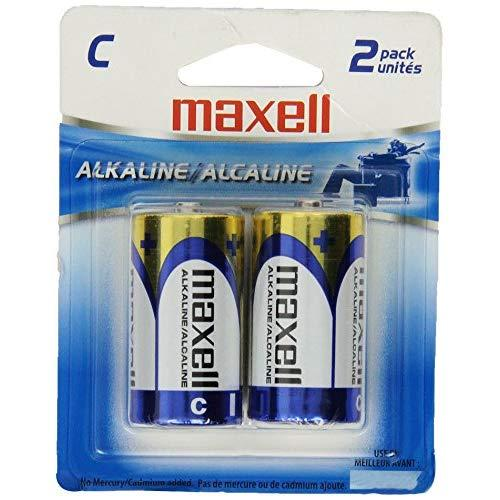 Maxell 723320 Long-Lasting High Value Dependable Alkaline Battery Ready-To-Go High Compatibility C Cell 2-Pack