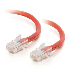 C2G 26706 Cat5E Crossover Cable - Non-Booted Unshielded Network Patch Cable, Red (14 Feet, 4.26 Meters)