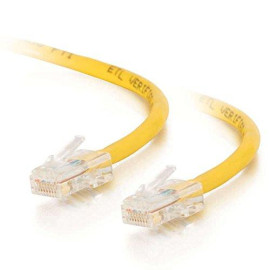 C2G 24497 Cat5E Crossover Cable - Non-Booted Unshielded Network Patch Cable, Yellow (3 Feet, 0.91 Meters)