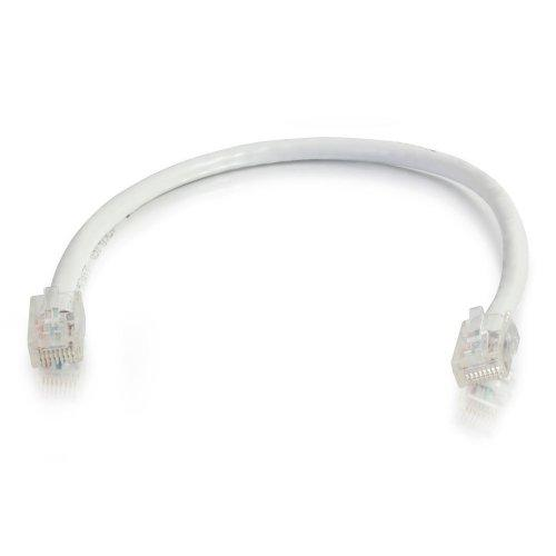 C2G 25237 Cat5E Cable - Non-Booted Unshielded Ethernet Network Patch Cable, White (14 Feet, 4.26 Meters)