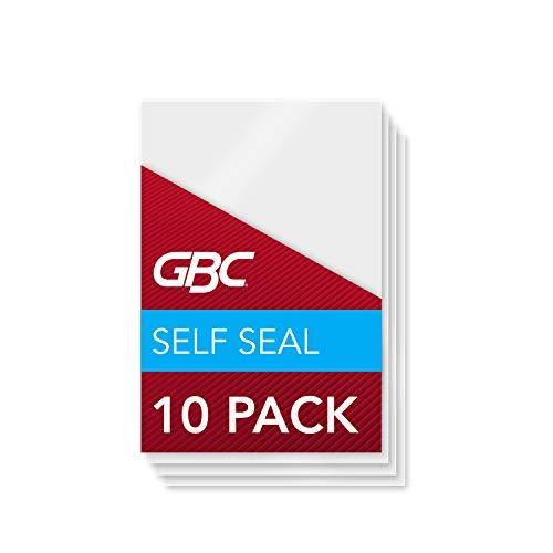 Gbc Laminating Sheets, Self Adhesive Pouches, Wallet Size, 8 Mil, Selfseal, 10 Pack (3745685)