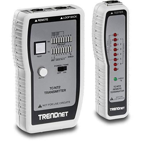 Trendnet Network Cable Tester, Tests Ethernet/Usb &Amp; Bnc Cables, Accurately Test Pin Configurations Up To 300M (984 Ft), Tc-Nt2