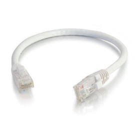C2G 21472 Cat5E Cable - Snagless Unshielded Ethernet Network Patch Cable, White (100 Feet, 30.48 Meters)