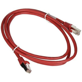 C2G 27247 Cat5E Cable - Snagless Shielded Ethernet Network Patch Cable, Red (5 Feet, 1.52 Meters)