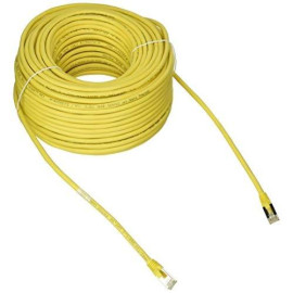 C2G 28715 Cat5E Cable - Snagless Shielded Ethernet Network Patch Cable, Yellow (150 Feet, 45.72 Meters)