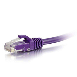 C2G 27802 Cat6 Cable - Snagless Unshielded Ethernet Network Patch Cable, Purple (7 Feet, 2.13 Meters)