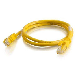 C2G/Cables To Go 27872 Cat6 Snagless Unshielded (Utp) Network Crossover Patch Cable, Yellow (7 Feet/2.13 Meters)