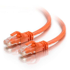 C2G 27895 Cat6 Crossover Cable - Snagless Unshielded Network Patch Cable, Orange (25 Feet, 7.62 Meters)