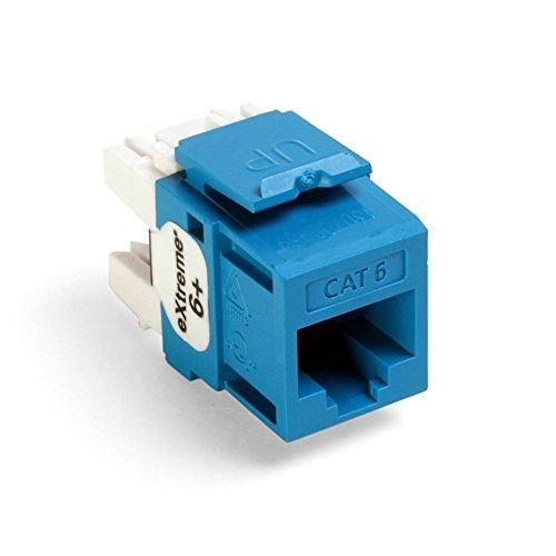 Leviton 61110-Rl6 Extreme 6+ Quickport Connector, Cat 6, Blue