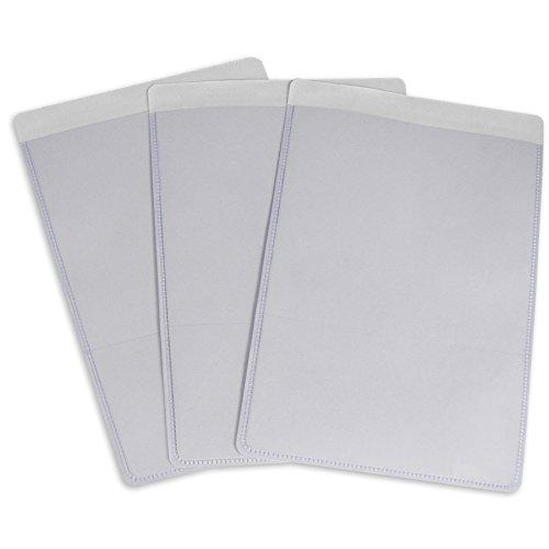 C-Line Self-Adhesive Shop Ticket Holders, 5 X 8 Inches, Clear, 50 Per Box (70058)