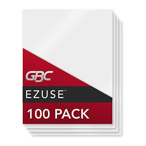 Gbc Laminating Sheets, Thermal Laminating Pouches Letter Size, 3Mil, Ezuse Speed Pouch, 100 Pack (3200715)