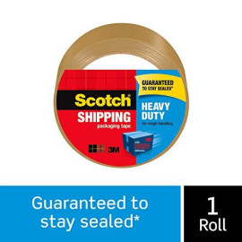 """Scotch Heavy Duty Tan Shipping Packaging Tape, 1.88 X 54.6 Yards, 3"""" Core, Great For Packing, Shipping &Amp; Moving, Tan, 1 Roll (3501T)"""