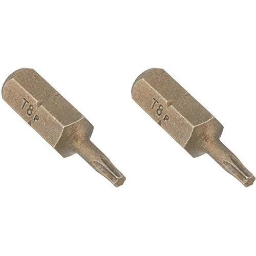 Vermont American 15401 Type Torx Size Tx8 With 1-Inch Length Extra Hard Screwdriver Bit, 2 Pieces Per Card
