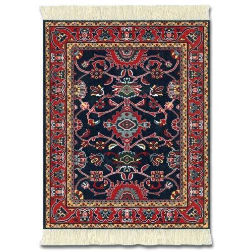 """Lextra (Deep Blue Bergamo), Mouserug, Navy, Red And Gold, 10.25"""" X 7.125"""", One"""