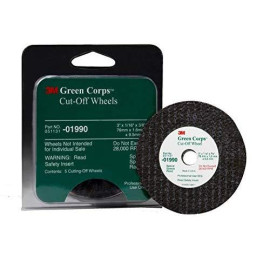 """3M 01990 Green Corps 3"""" X 1/16"""" X 3/8"""" Cut-Off Wheel (5 Wheels Included)"""